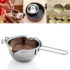 Nuovo vaso di fusione del cioccolato in acciaio inossidabile doppia caldaia latte ciotola burro caramella calda per pasticceria strumenti di cottura GWD4423