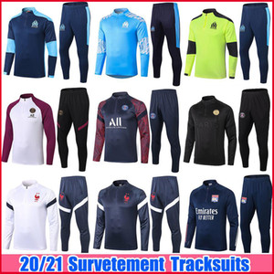 2020 2021 Real Madrid Masculino Treino Fatos 20 21 Marseille PSG Paris st germain MBAPPE Survetement Kids Soccer Treino Maillots de Foot Chandal Kit Training Suits