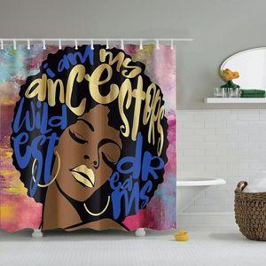 Dafield African American Dekor Duschvorhang Wasserabweisend Polyester-Gewebe Waschbar Männer Frauen African American