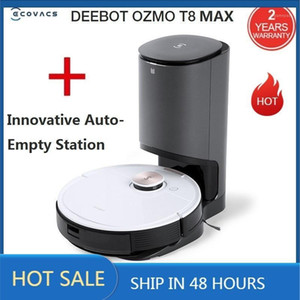 2020 ECOVACS DEEBOT OZMO T8 MAX With Innovative Auto-Empty Station Sweeping and Mopping Robot Vacuum Cleaner APP Remote Control1
