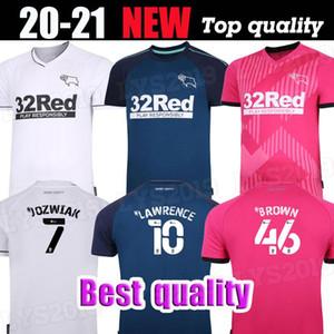 جديد 20 21 Derby County Soccer Jerseys Home Thoone Rooney 2020 2021 Camisetas de Fútbol Marriott Lawrence Waghorn Man Football Shirts