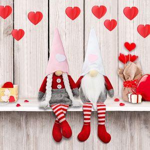 Amantes boneca sem rosto durável Dwarf Rudolph Valentines Day Day Doll Janela adereços decorativos bonecos ornamentos W-00601