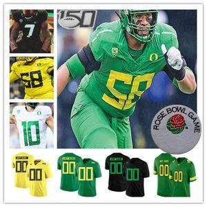 2021 College Oregon Canards Jersey Football Justin Herbert Tyler Tyler Jay Butterfield CJ Verdell Johnny Johnson III McKinley III Flowe Funa