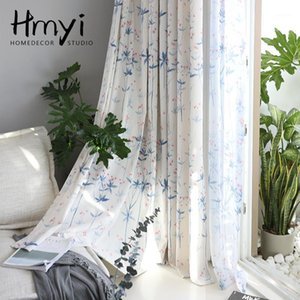 American Pastoral Forest Blue Curtains For Window Curtain Living Room Curtains For Bedroom Printed Rideaux Gordijn Firanki1