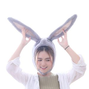 Japanese Cute Plush Funny Eastern Ears Cap Mask Adult Kids Halloween Party Cosplay Animal Hood Hat Winter Warm Costume