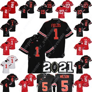 NCAA OHIO Estado Buckeyes Justin Fields Jersey Chris Olave Julian Fleming Garrett Wilson Chase Young Eddie George 15 Elliott Football Jerseys