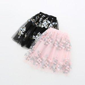 Big Girls Tutu Layered Skirts Kids Ball Gown 2020 Summer Flower Long Skirt Girls Princess Skirt Children Clothes 4 6 8 10 12 14 Y1201