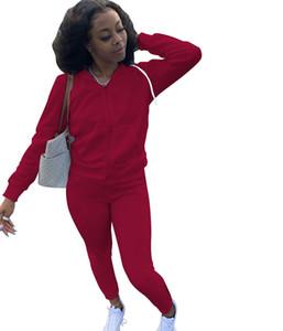 Bayan Eşofman Kadın Tasarımcılar Giysileri 2021 Moda Spor Uzun Kollu Ceket Pantolon Tow Parçaları Kıyafetler Hoodie Legging Limanlar Set