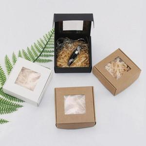 Мыльная бумага коробка крафт бумажные коробки подарочные упаковочные коробки вставка с окном коробка пасха валентинок подарок упаковка коробка DDB3707