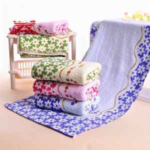 Simple Facecloth Multi Color Towel Reusable Printed Flower Cute Ventilation Woman Man Washcloth Kitchen Supplie 1 9xa K2
