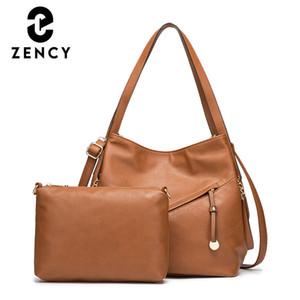 ZENCY Soft Artifical Кожаная сумка 2020 Новый Классический Дизайн Женщин Композитный Hobo Сумки Большая Емкость Сумка через плечо