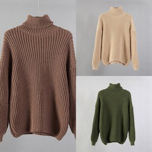 Hirsionsan Turtle Neck Sweater Women 2020 New Korean Elegant Solid Cashmere Soft Oversized Thick Warm Female Pullovers Tops W1217