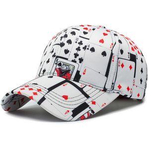 Print Cotton Poker Hip Hop Cappellino Бейсболка для женщин Мужчины Открытый Мода Casquette Homme Bone Snapback Hat