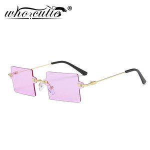 Кто старинные женские солнцезащитные очки Cutie Vintage 2021 Бренд дизайн квадратный кадр без ограждения SteamPunk Sun Glasses Shates Lady женский фиолетовый S357