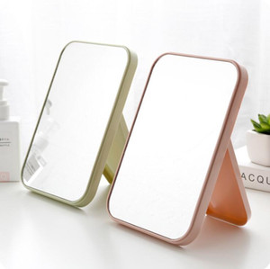 Folding Portable Mirror Square Cosmetic Princess Mirrors Make Up Mirror Women Travel Desktop Single Sided Large Makeup Mirrors EWB3370