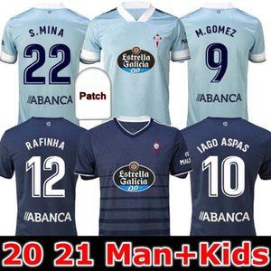 Mann und Kinder 2020 2021 RC Celta de Vigo Fußball Jersey Lobotka Iago Aspas Santl Mina Kids Football Hemd Sisto Boufal Camiseta Futbol Kit