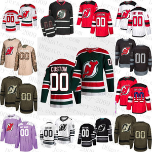 2021 Reverse Retro Special Personalizzato New Jersey Devils Uomo Donne Giovanita Macellaio Taylor Hall Miles Wood Nico Herchier Hockey Jersey cucito