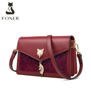 Golden Fox Moda Marca Luxo Bolsas De Couro Senhoras Mensageiro Mensageiro 2021 Balfskin Ombro Saco Caixa de Cinto de Couro