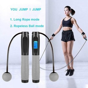Jump Ropes for Fitness Smart Digital Weighted Jumping Rope Speed Crossfit with Calorie Counter Cordless Ropeless Skipping Rope1