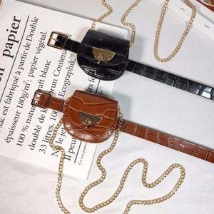 Belt Waist Bag Women Fashion Versatile Mini Chain Small Bag Waist Decoration Belt Net Red Tide Ins