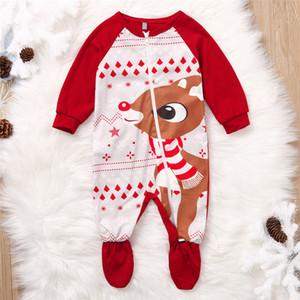Lonsant Kız Erkek Noel Kış Yenidoğan Bebek Bebek Romper Tulum Yumuşak Pijama Giysileri 2019
