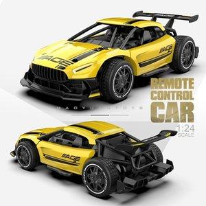 Bebek Shining RC Arabalar Radyo Kontrolü 2.4G 4CH Yarış Araba Oyuncaklar Çocuklar Için 1:24 Yüksek Hızlı Elektrikli Mini RC Sürüklenme Sürüş Araba 201105
