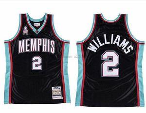 Custom Hombres Mujeres Kid Baloncesto Memphiscity Equipo 2 Jason Williams Mitchell Ness 2001-02 Hardwoods Classic Retro Jersey