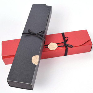 Fashion Chocolate Paper Box Black Red Party Chocolate Gifts Packaging Boxes For Valentine's Day Christmas Birthday Supplies EWB3230