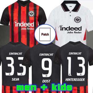 20 21 Eintracht Frankfurt Soccer Jerseys 2020 2021 Francfort Home Silva Barkok Hinteregger Paciência Kamada Man Jerseys de football Kamada