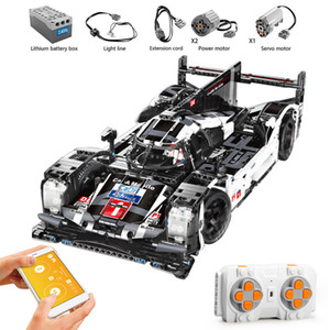 1586PCS RC Non-RC Endurance Car Technic Remote Control Vehicle Super Racing Sports Racer Building Blocks Bricks Kids Toys Gifts Q1126