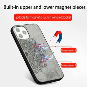 Magnet Flower Lace Case For Iphone 12 11 Pro XS MAX XR 8 7 6 S20 FE Hard PC Plastic+Soft TPU Phone case