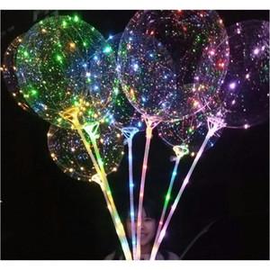 LED BOBO BALLOOT с 31,5 дюйма Stick String Balloon Light Рождество Хэллоуин Свадьба День рождения Украшения Бобо Jellcne Home003