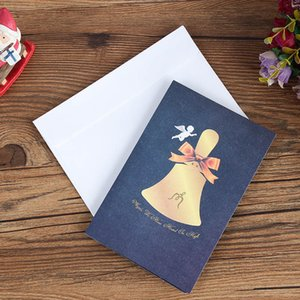 Pop Up Xmas Cartoon Invitation Card Christmas New Year Baby Gifts Greeting Cards OWA2307