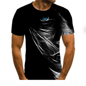 2020 New Summer 3D printed men's T-shirt casual short-sleeved men's T-shirt fashion hip-hop top