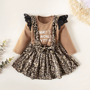 2020 Baby Girls Clothes Toddler Girl Kids Outfits Fall Casual Cotton Letter O-Neck Regular Fashion Novelty