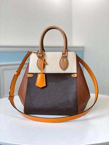 Fourre-tout populaire pli marché véritable cuir tas croix sac de sac mm mm lady portefeuille femmes épaule corps sacs à main porter main avec long Tifo