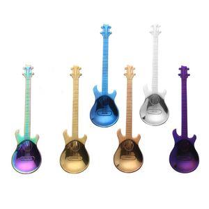 Creative Stainless Steel Guitar Spoon Dessert Cake Set Coffee Spoon Stylish Kitchen Accessories FH5