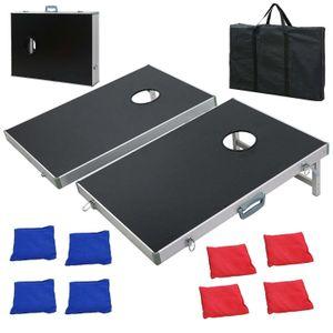 CornHole Bean Bag Toss Game Set Aluminum Frame Portable Design W  Carrying Case