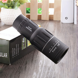 16x52 Çift Focus Monoküler Spotting Teleskop Yakınlaştırma Lens Dürbün Kaplama Lensleri Avcılık Optik Kapsam Telefon Klipsi