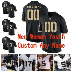 Stitched Custom 38 Nick Schrage 4 Cam Thomas 40 Andy Davidson 41 Glenn Davis Army Black Knights College Men Women Youth Jersey