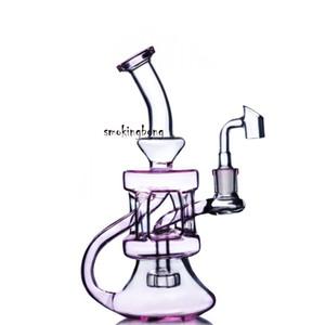 핑크 비커 봉 물 담뱃대 재활용 물 봉수 기능 Waterpipe 흡연 액세서리 물 담뱃대 Dab Heady Glass Rigs 오일 버너 14mm Banger