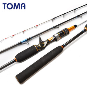 TOMA 1.80m Jigging Octopus Spinning Carbon Fishing Rod 2 Section MH 50-180g Inshore Sea Bass Casting Boat Fishing Rod Saltwater Q1203