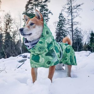 Winter Waterproof Dog Clothes Keep Warm In Snow Dog Coat Jackets Clothes High Neck Knit For Large Ski Suit Outdoor