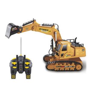 2.4G 1:18 RC Excavator Exchange Tractor Truck Toys Мальчики Симулятор дистанционного управления Модель автомобиля для детей Новый год подарок 201209