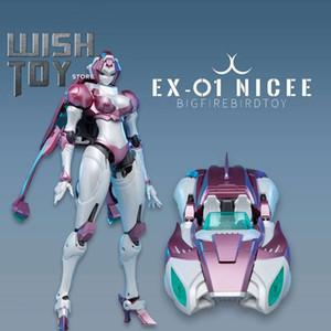 Transformation Robot Nicee Arcee EX01 EX-01 Big Firebird G1 Rouge RC Action Figure Deformation Collection Toys
