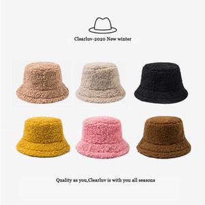 ClearLuv-dames chapeau solide fourrure artificielle chaleur chapeau chapeau de chapeau de fourrure en plein air automne et hiver
