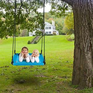 """40 """"x 30"""" Çocuklar Ağır Hizmet Mat Platformu Web Swing ile Ayarlanabilir Ağaç Halat Mavi"""