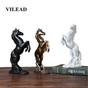VILEAD 12.4'' Resin Horse Statue Living Room Crafts Decorative Ornaments Creative Home Horse To Successful Opening Lucky Gifts T20