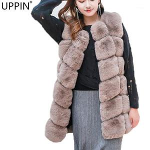 Uppin Faux Foux Coat Winter Women 2018 Nueva Moda Casual Cálido Cálido Slim Sin Seda Faux Piel Chaleco Chaqueta de invierno Abrigo Casaco1