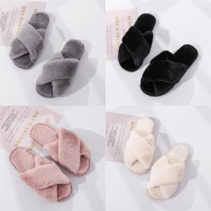 m5ujz Red loafer slippers Cross bottom men sneaker plush slide fashion casual sandal block slipper slipper loafers slides sandals